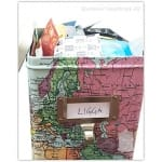 Storage box with the World Map