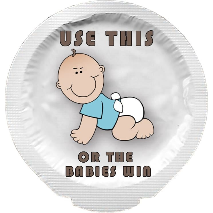 Happy Condoms Use This Or The Babies Will Win 1 pcs