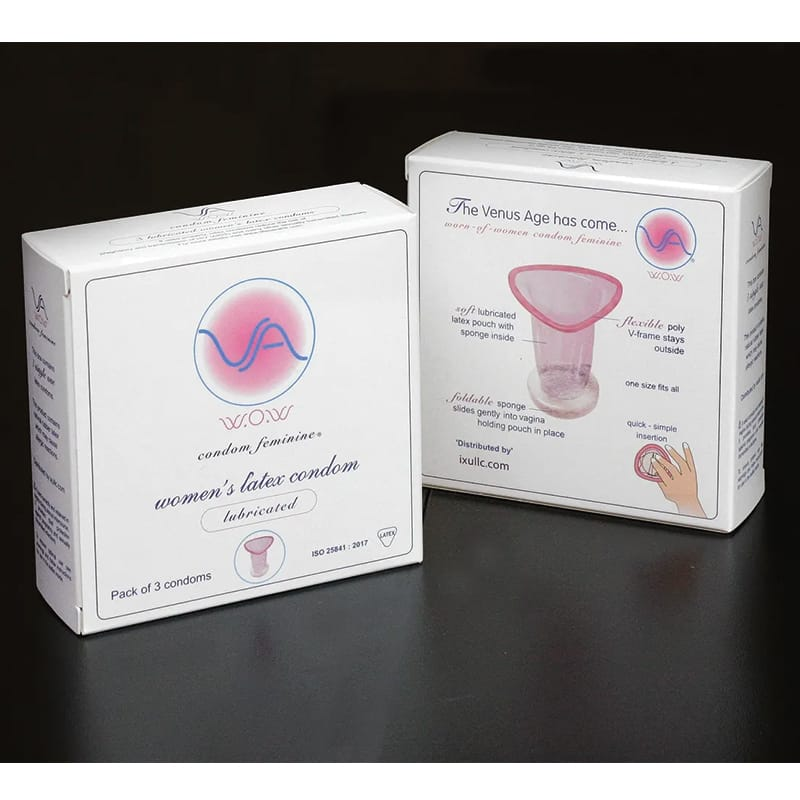 Worn Of Women Female VA Condom 3-pack